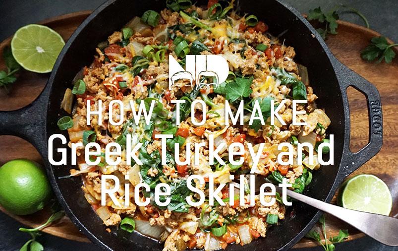 Greek Turkey and Rice Skillet