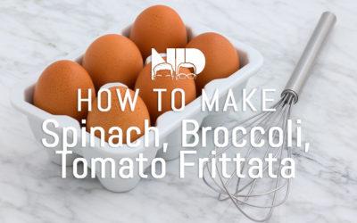 Spinach, Broccolini, Tomato Frittata